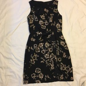 Banana Republic Factory black floral dress